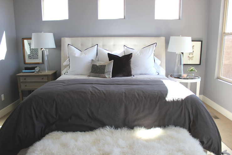 Mismatched Nightstands Transitional Bedroom Alice Lane Home