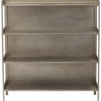 Cole Wide Metal Bookshelf, HomeDecorators.com