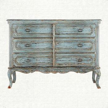 Karenina Baronet Blue Chest, Arhaus Furniture