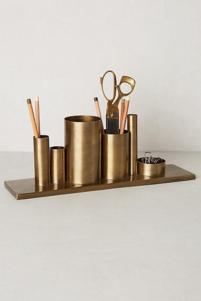 Copper Cylinder Pencil Holder