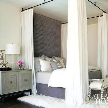 Curtains Ideas black canopy curtains : Black Canopy Bed - Mediterranean - bedroom - Martyn Lawrence ...