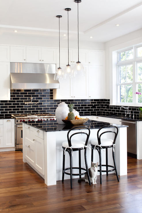 Terrific Black Subway Tiles Contemporary Kitchen Jessica Glynn Download Free Architecture Designs Crovemadebymaigaardcom