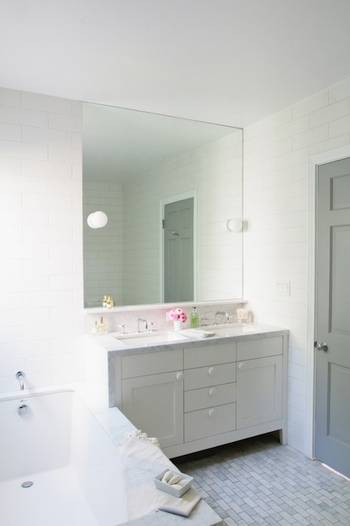 Gray Door Contemporary Bathroom Benjamin Moore