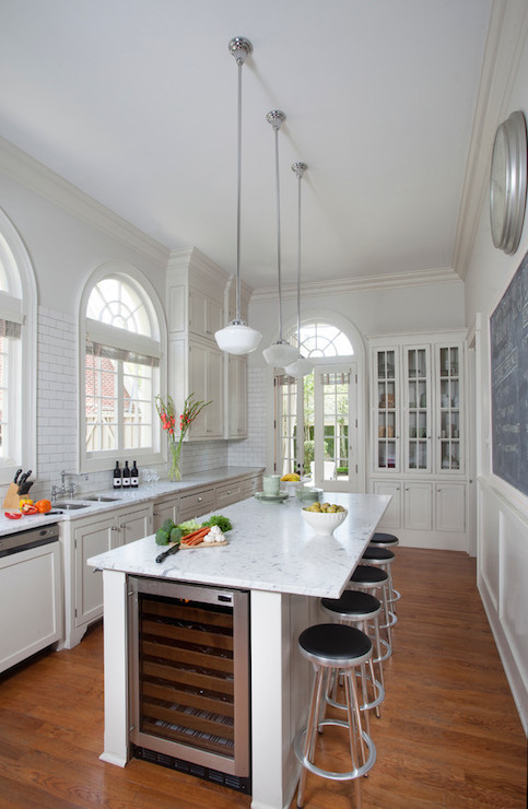 Island Wine Cooler Transitional Kitchen Benjamin