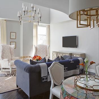 Hermes Blanket, Transitional, living room, Parker Kennedy Living