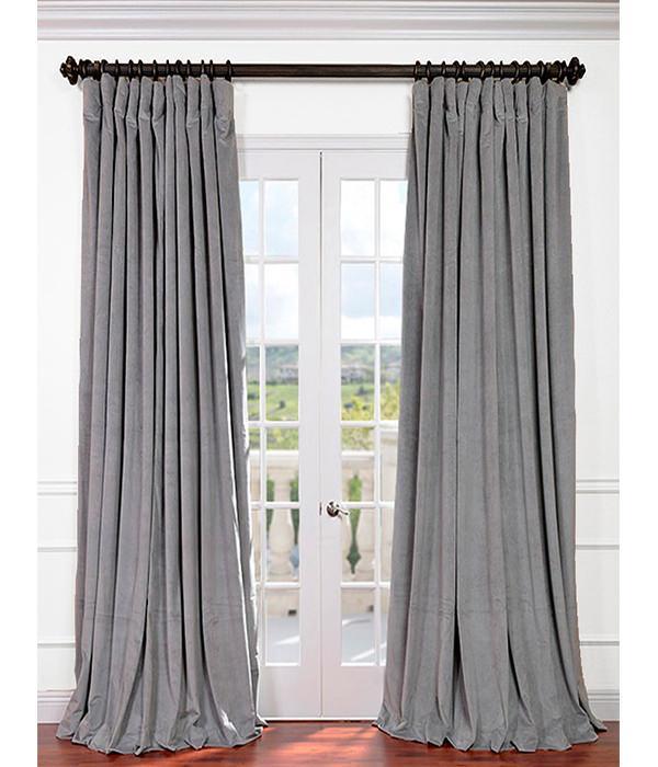 Soft Grey Velvet Curtains   Curtain Menzilperde.Net - photo#9