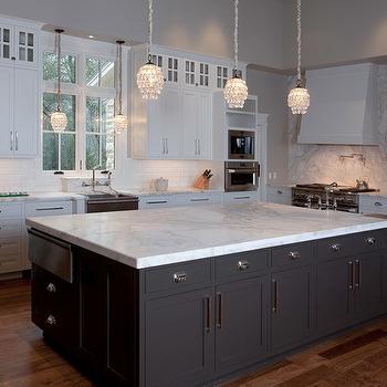 Dark Kitchen Island, Transitional, kitchen, Artisan Counters