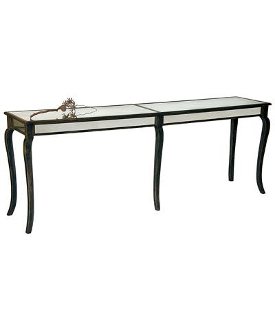 Long Black and Silver Console Table