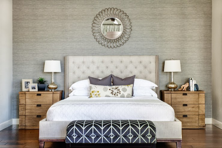 Gray Accent Wall Transitional bedroom J and J Design Group