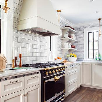Off White Kitchen Cabinets With White Marble Countertops