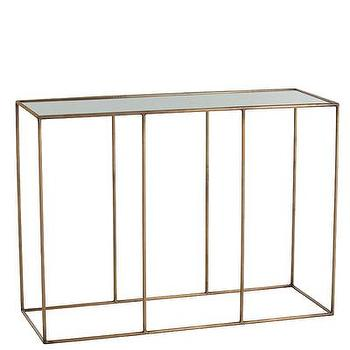 Othello Iron/Mirror Console Table I Bliss Home and Design