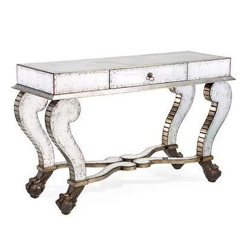 Eglomise Console Aged I Bliss Home and Design