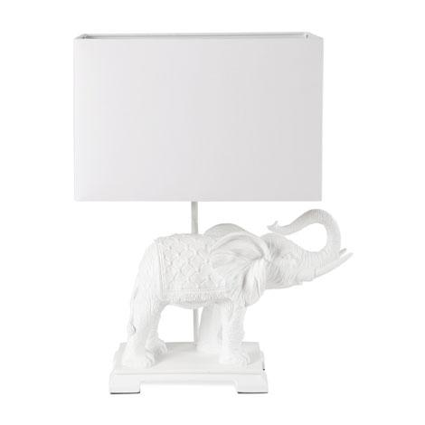 Famous Gold and White Elephant Table Lamp VE06