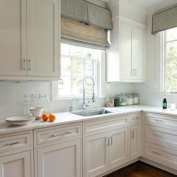 gray kitchen window molding design ideas