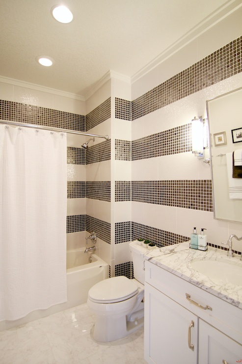 Bathroom Design Ideas With Stripes ~ Striped shower tiles transitional bathroom james