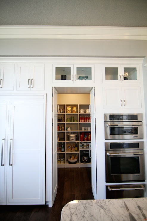 Hidden Pantry Transitional Kitchen Neighborhood Builders