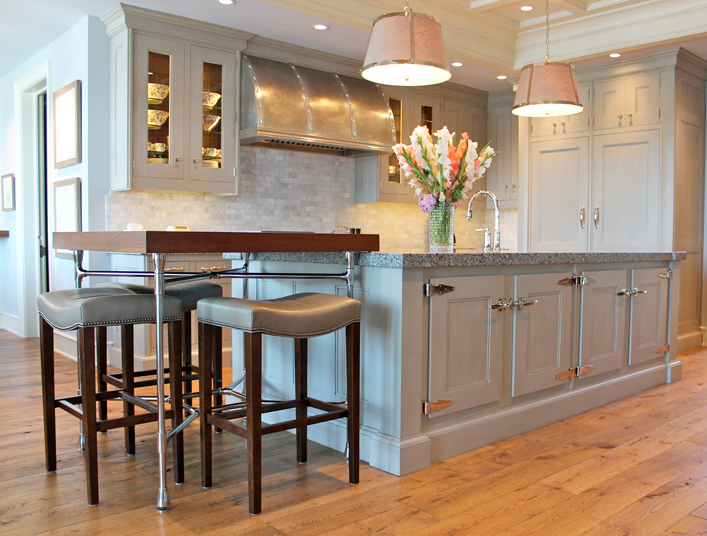 Gray Cabinetry - Transitional - kitchen - Via Design on ice chest hinges and latches, bed cabinet, electric cabinet, bar cabinet,