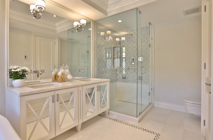 Bathroom Cabinets Floor To Ceiling mirrored bathroom vanity - contemporary - bathroom - herlong