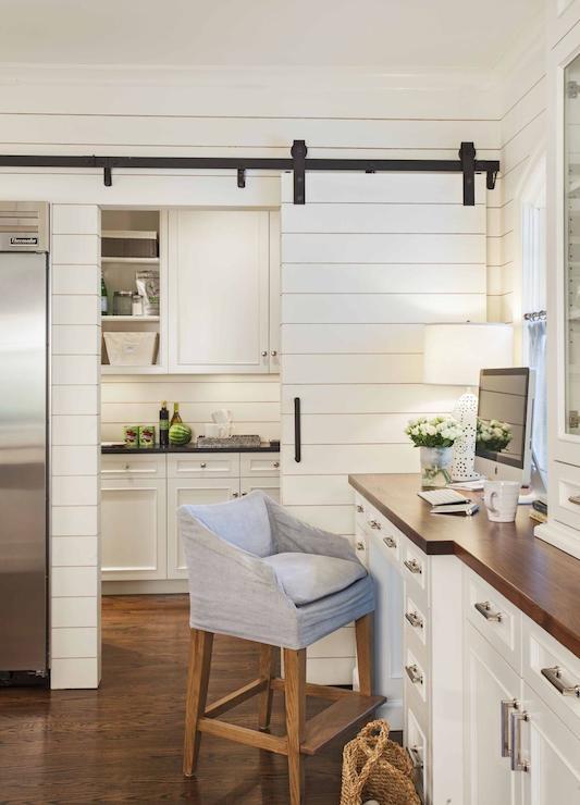 Pantry With Sliding Barn Door