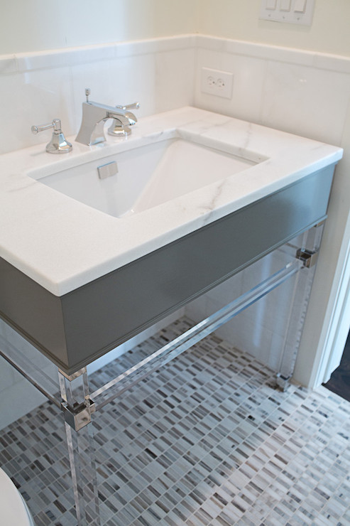 Lucite Vanity Base Design Ideas