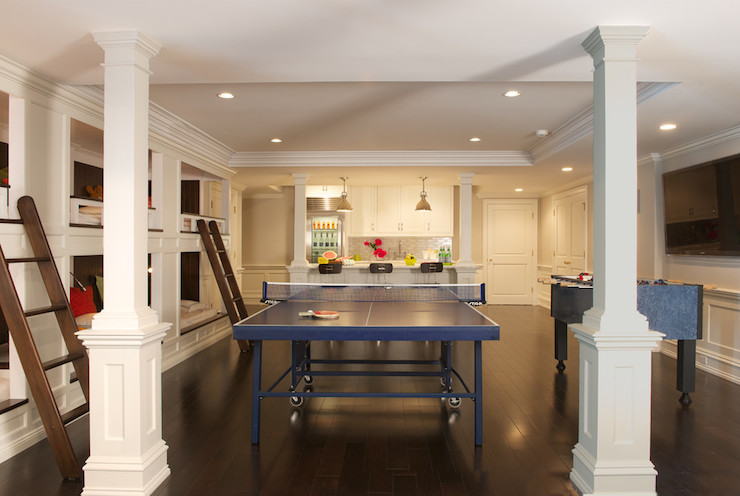 Basement game room transitional basement titus built Basement game room ideas