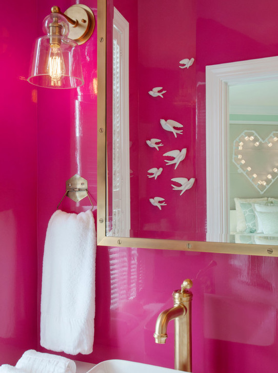 Hot Pink Bathrooms Contemporary Bathroom Mas Design