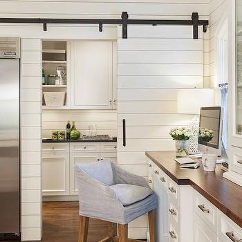 Pantry with Sliding Barn Door, Transitional, kitchen, Advanced Renovations
