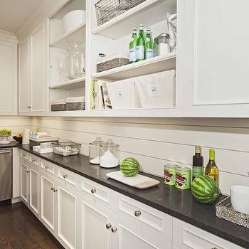 White Tongue And Groove Backsplash Design Ideas