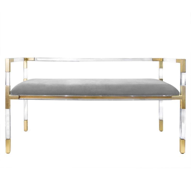 Bedroom Bench With Lucite Legs