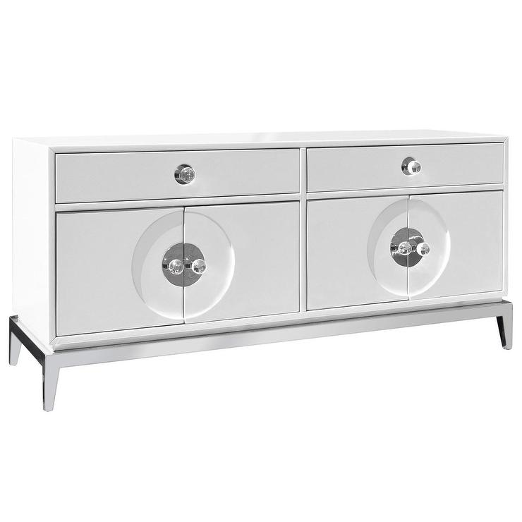 Jonathan adler channing white media console White media console