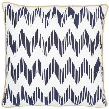 Chevron Navy Pillow design by Allem Studio I Burke Decor