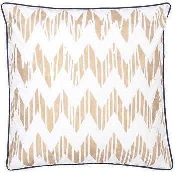 Chevron Gold Pillow design by Allem Studio I Burke Decor