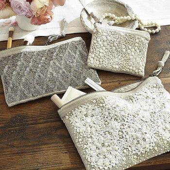 Shell Beaded Pouches, Pottery Barn
