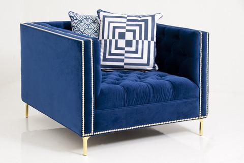 new deep blue chair