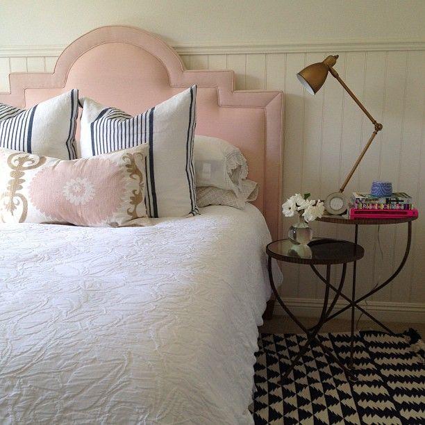pink velvet headboard transitional bedroom rh decorpad com