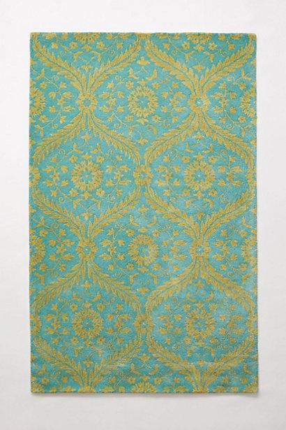Charming Caterina Blue Green Pattern Area Rug