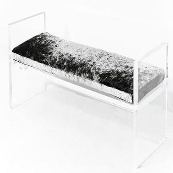 Lucite Plinth Bench, ModShop