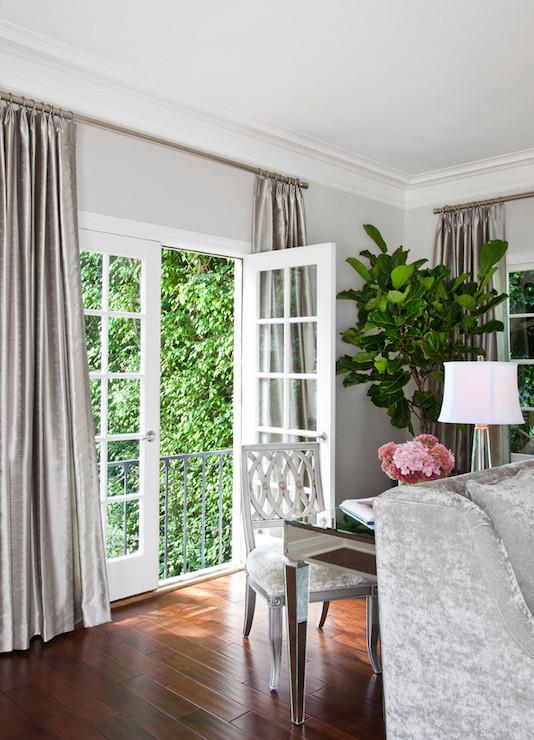 Gray Velvet Curtains Design Ideas