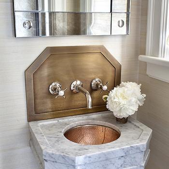 powder room sink faucets. Hammered Copper Sink view full size  Stunning powder room Wall Design Ideas