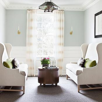Wingback Settee, Transitional, living room, Alisberg Parker Architects