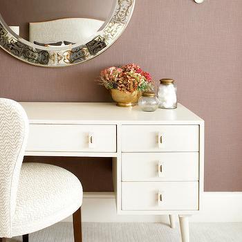 Amory Brown  Mid Century Vanity Table