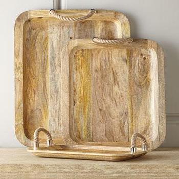 Three Zephyr Wood Trays I Horchow