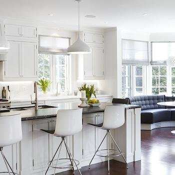Cloud White Cabinets, Contemporary, kitchen, Benjamin Moore Cloud White, Strickland Mateljan