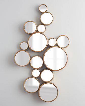 Gold Bubbles Mirror