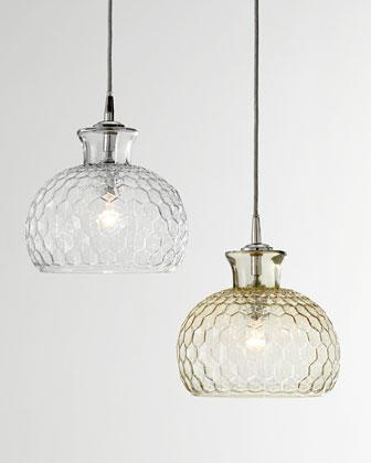 Jamie young clark taupe and clear pendant light aloadofball Images