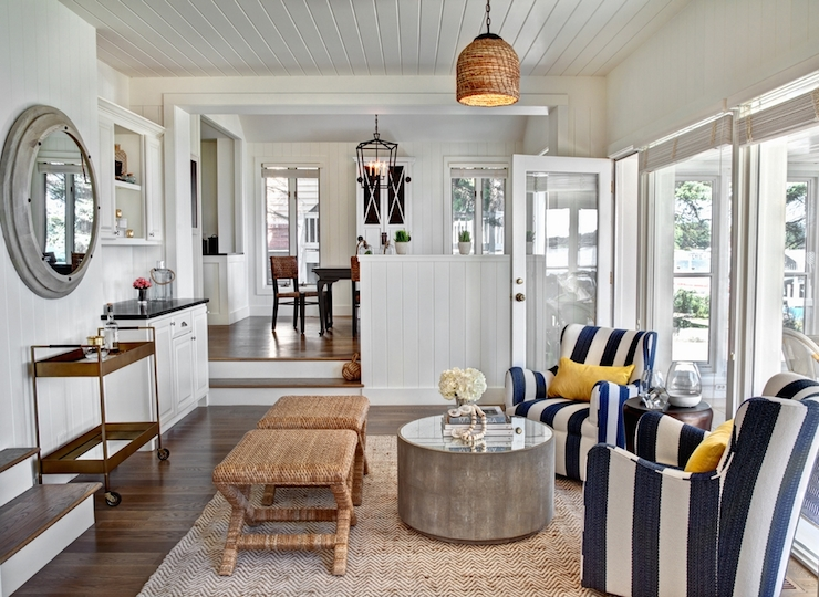 Striped Chairs view full size. Seaside living room ... - Cottage Living Room - Cottage - Living Room - ICI Dulux