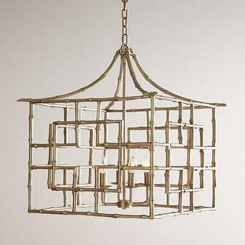 Bamboo Fretwork Pendant Light I Horchow