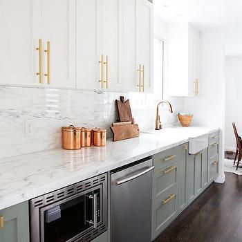 Ikea Kitchen Cabinets, Transitional, kitchen, Farrow and Ball Wimborne White, Smitten Studio