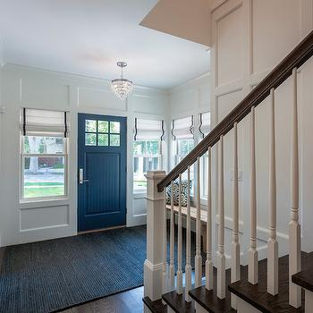 Navy Blue Front Door Traditional Entrance Foyer Jenn
