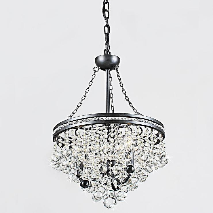 - Eleanor 3-light Antique Bronze Crystal Chandelier